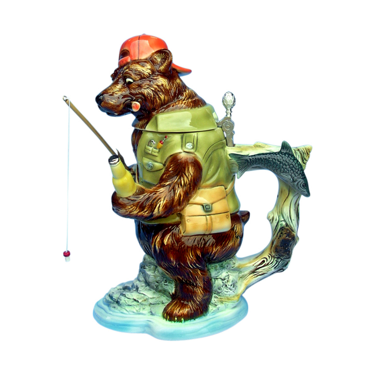 Grizzly Bear Fishing Beer Stein