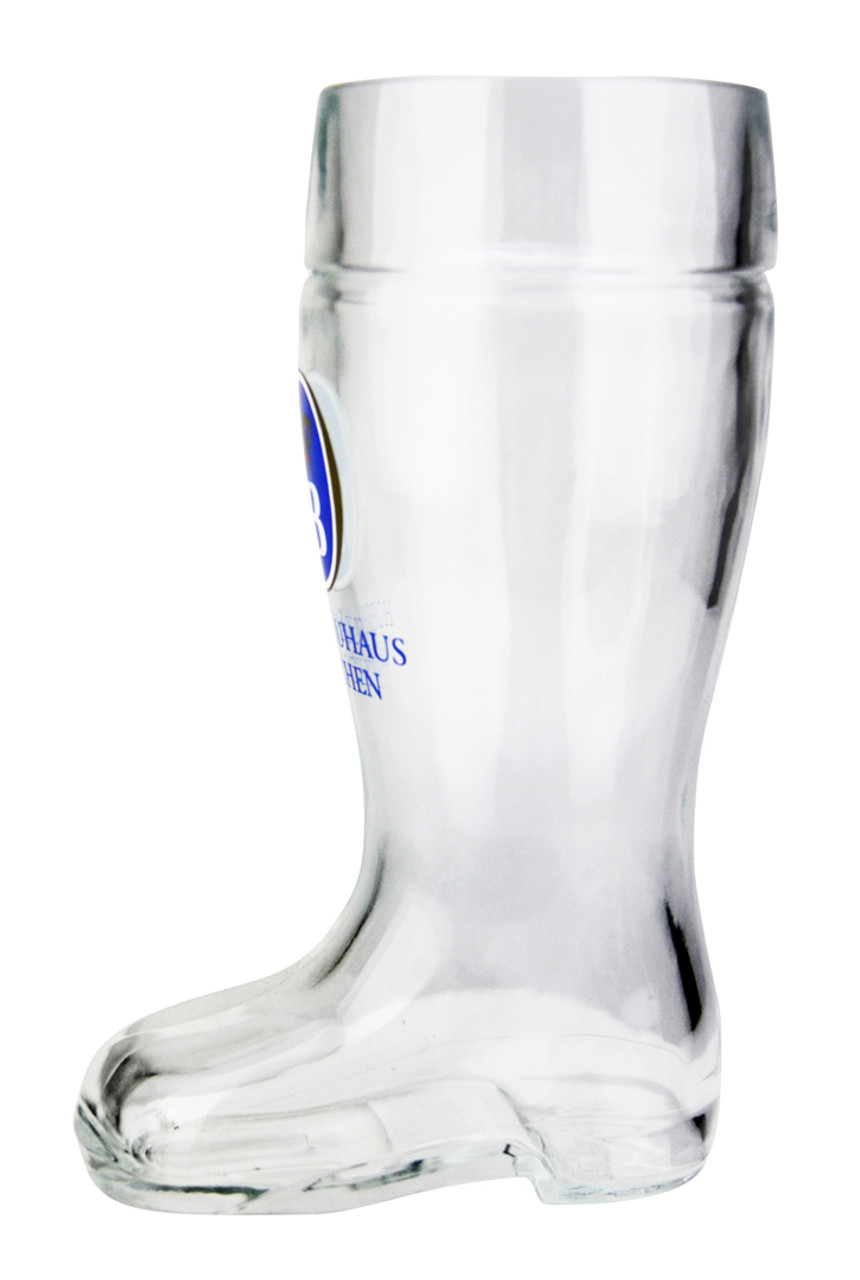 Personalized .5 Liter Hofbrauhaus Glass Beer Boot