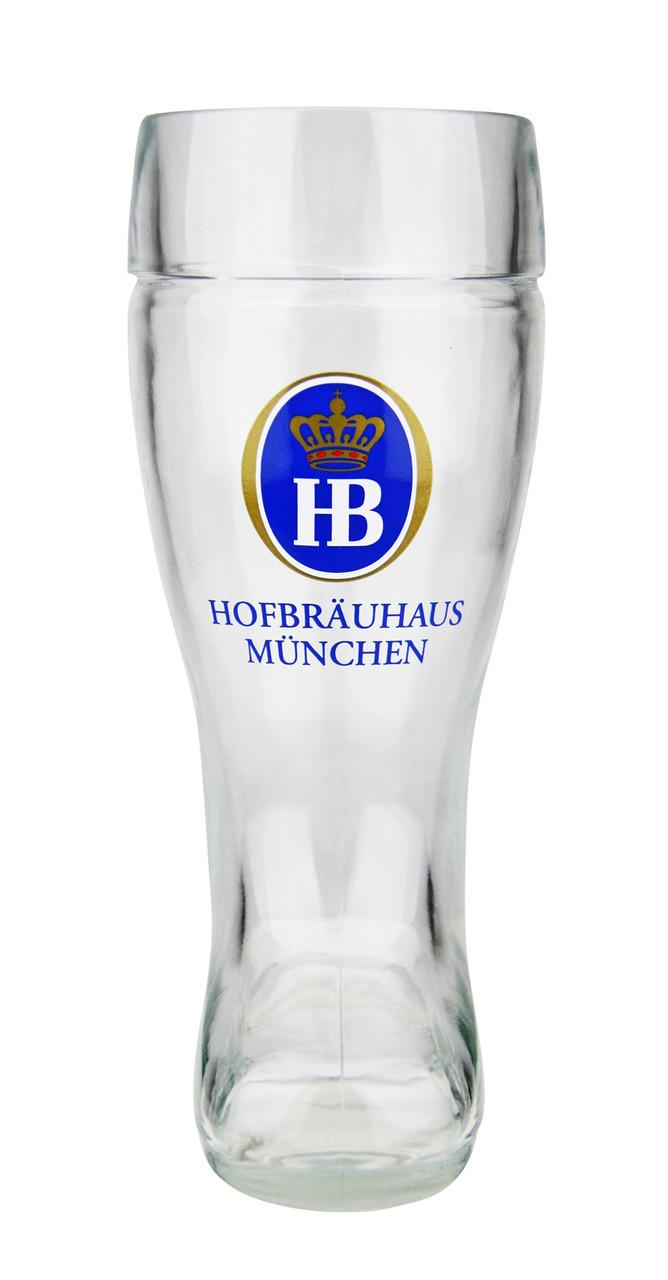 Custom Engraved .5 Liter Hofbrauhaus Glass Beer Boot