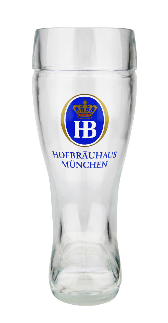 Custom Engraved .5 Liter Hofbrauhaus Glass Beer Boot