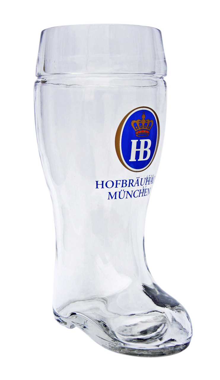 Hofbrauhaus 1 Liter Glass Beer Boot
