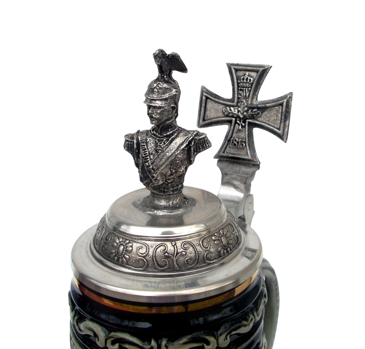 Kaiser Wilhelm II Bust and German Iron Cross