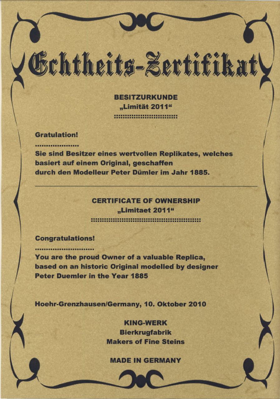 Certificate Front