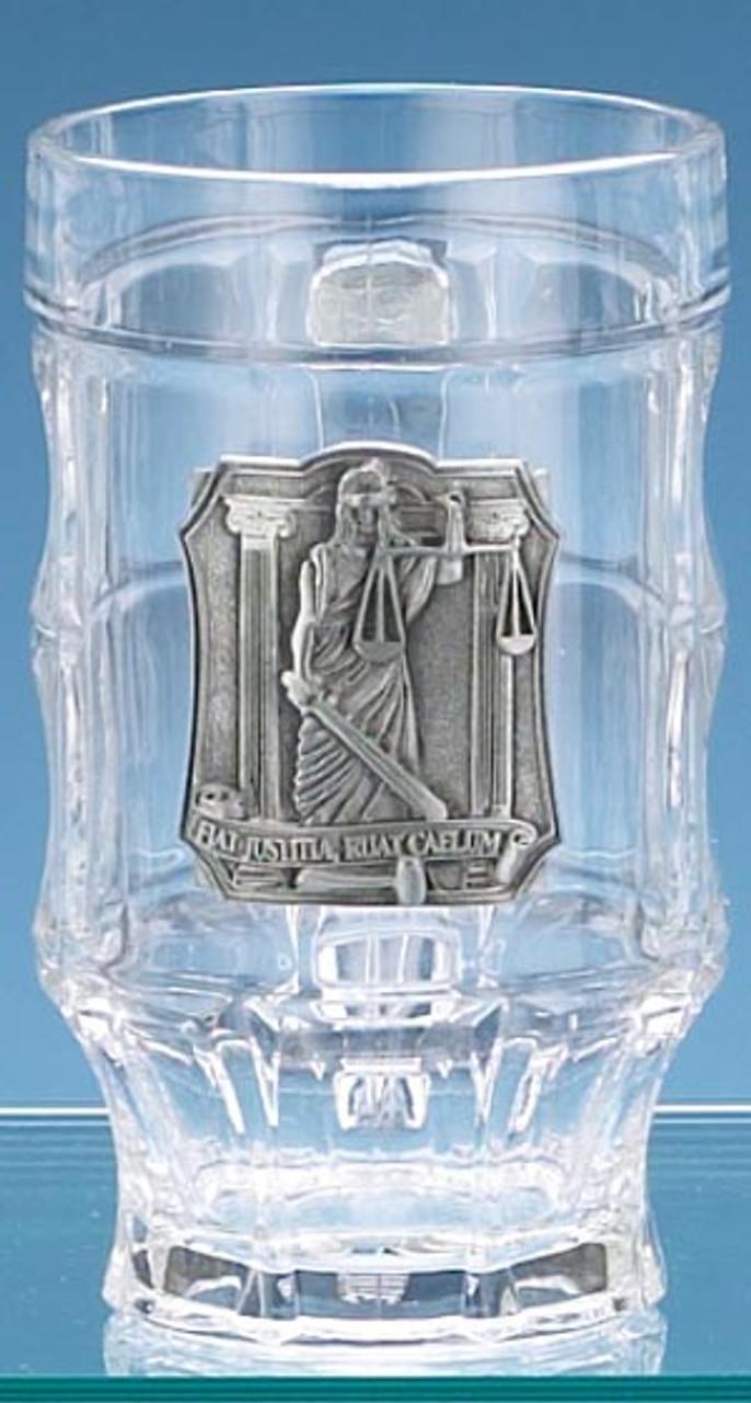 Authentic Lawyer German Glass Facet Mug