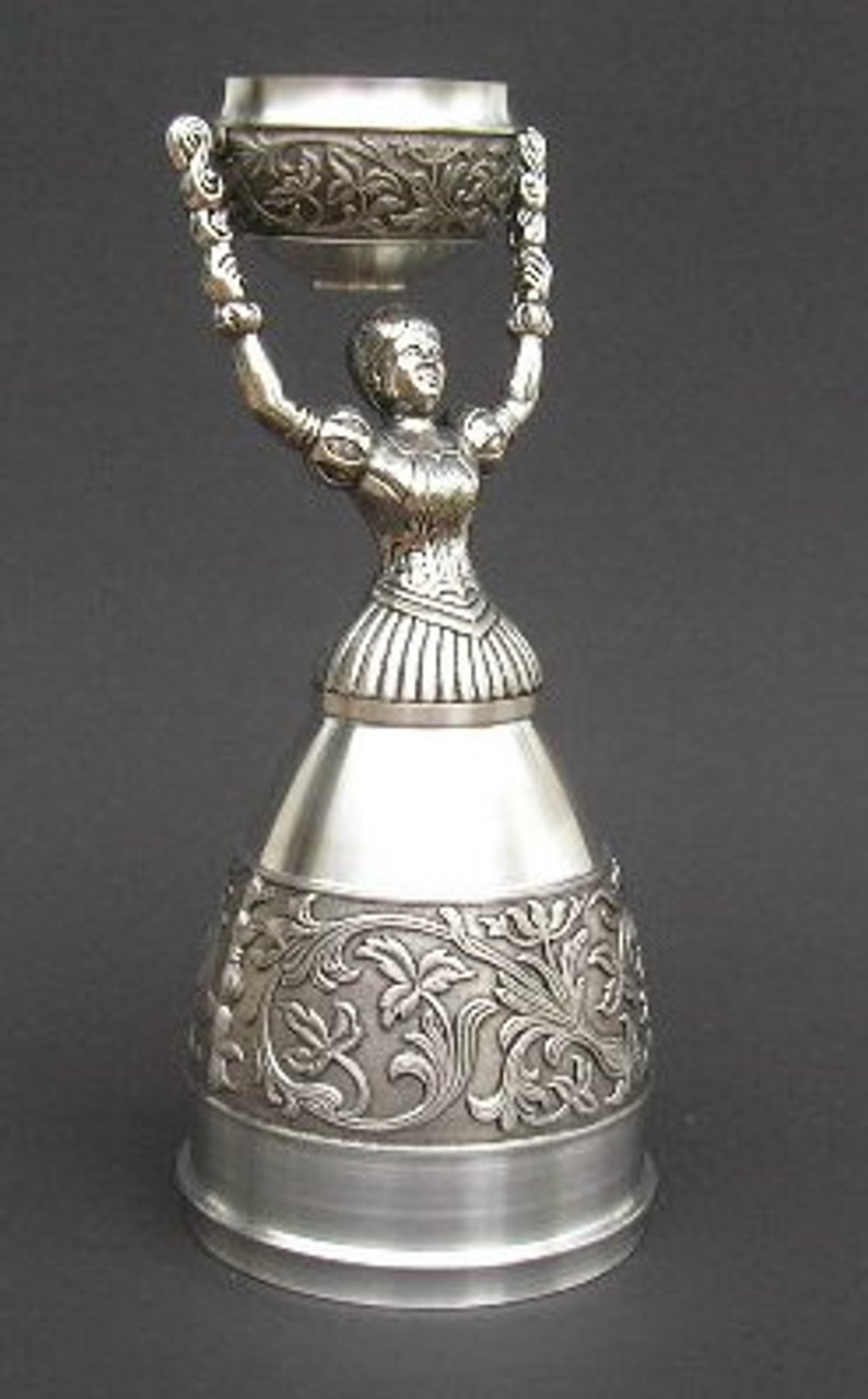 Authentic German Pewter Wedding Bridal Cup