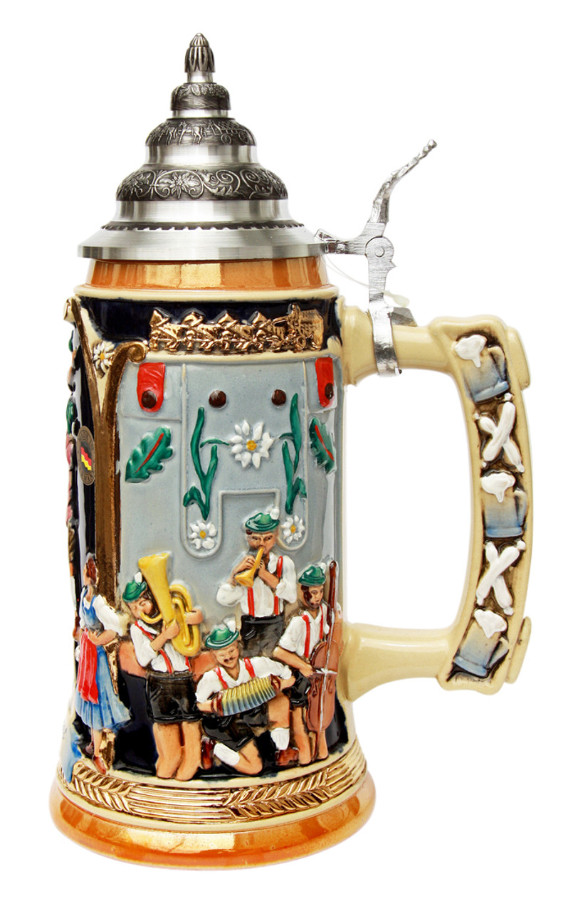 Oktoberfest Party Beer Stein with Lid