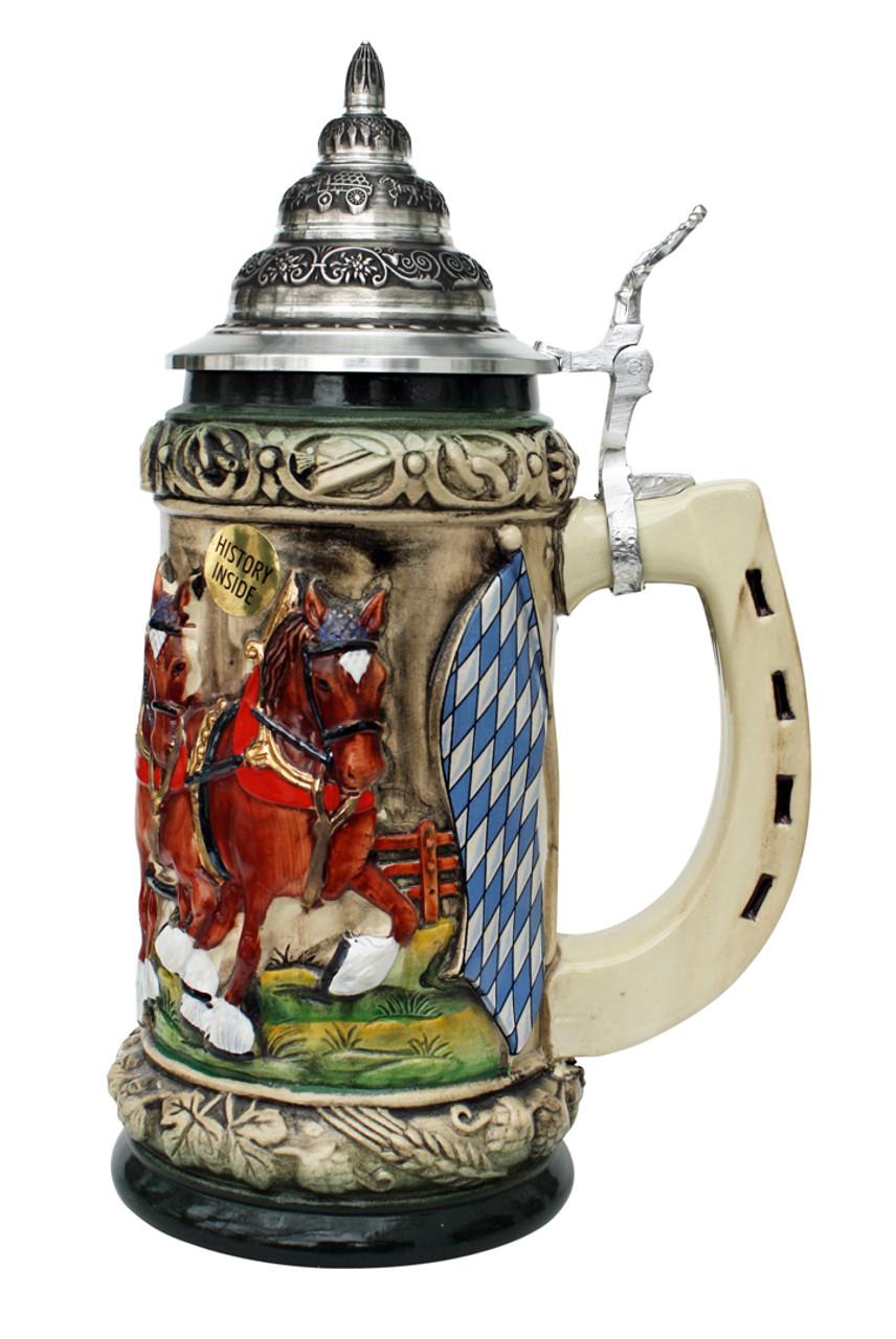 Oktoberfest Clydesdales Beer Wagon Stein 0.75 Liter