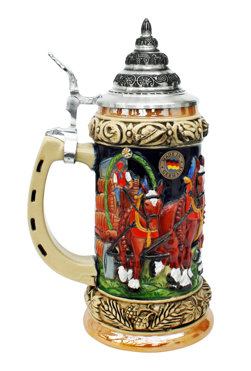 Oktoberfest Clydesdale and Beer Wagon Stein