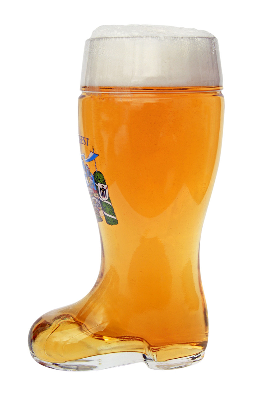 Oktoberfest Glass Beer Boot 1 Liter