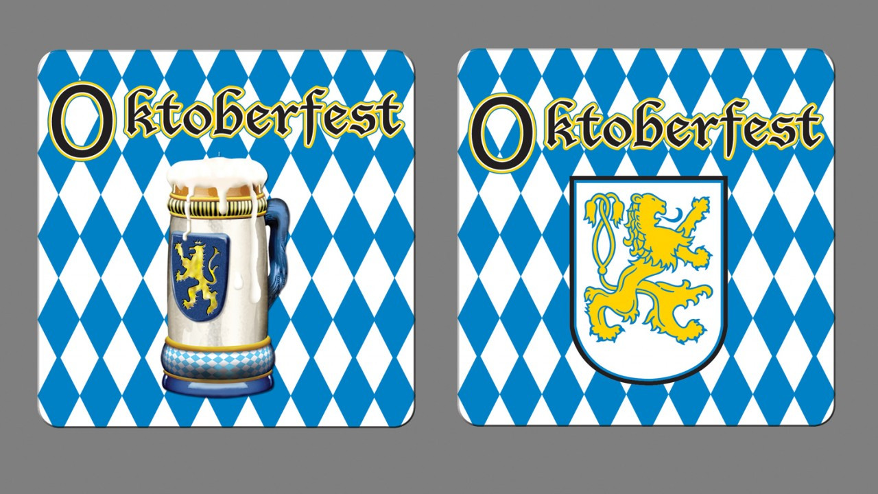 Oktoberfest Party Coasters 8pk