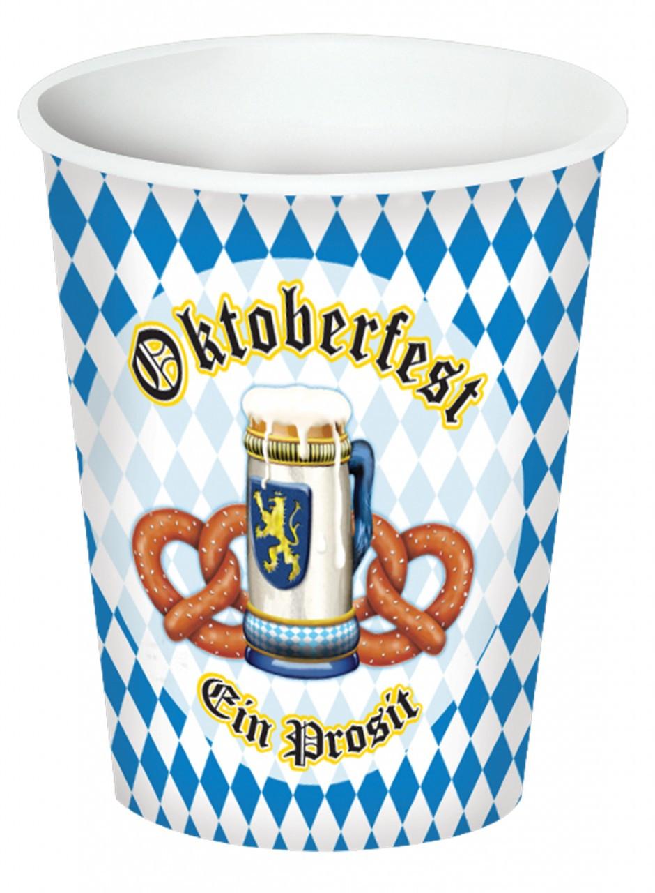 Paper Oktoberfest Party Cups 8pk