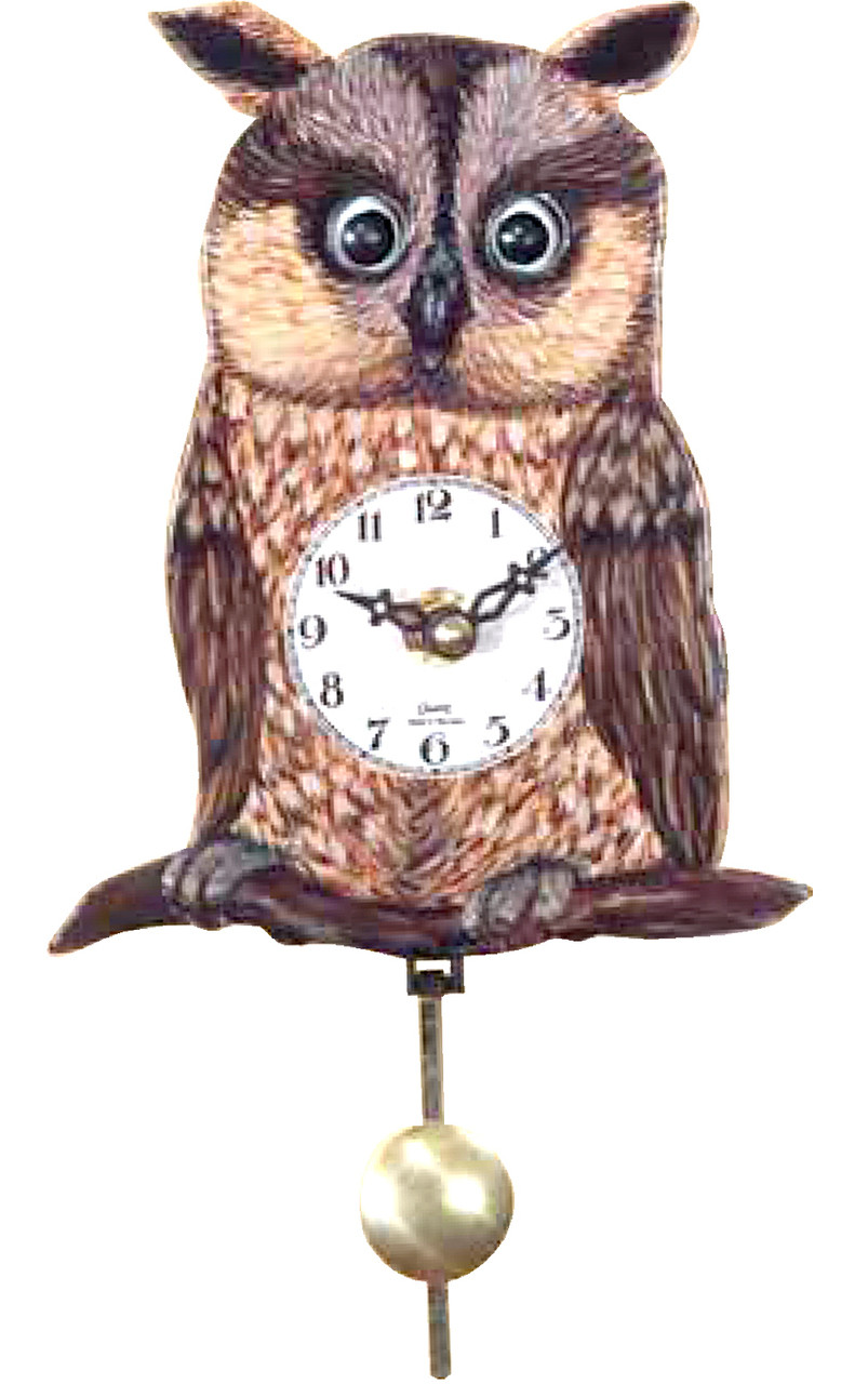 German Owl Mini Clock