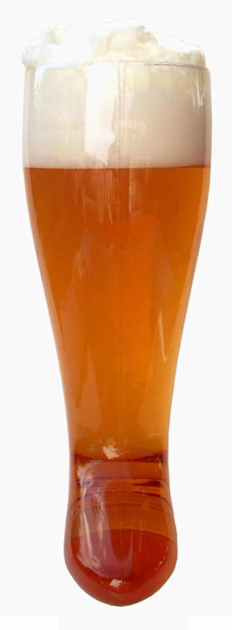 Two Liter Plastic Beer Boot, Front View