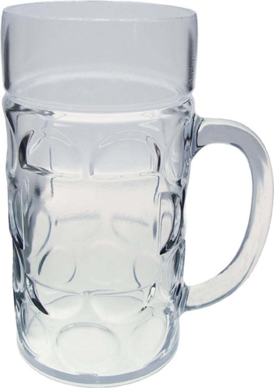 Plastic 1 Liter Dimpled Beer Mug