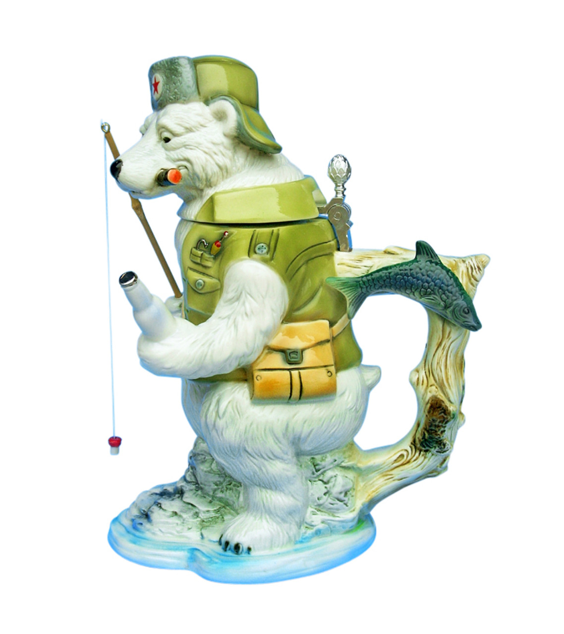 Polar Bear Fishing Beer Stein