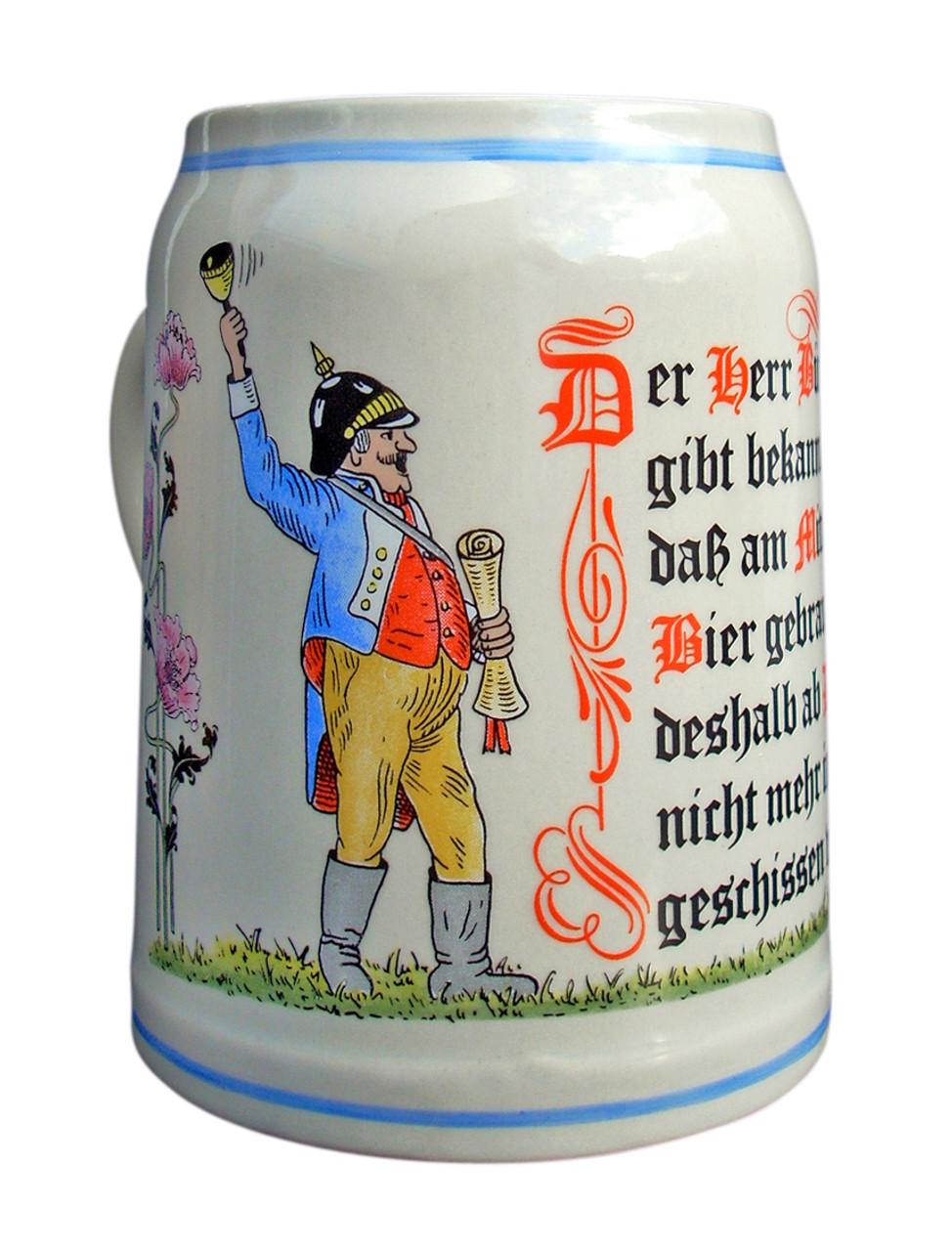 Purity Law Stoneware Beer Mug