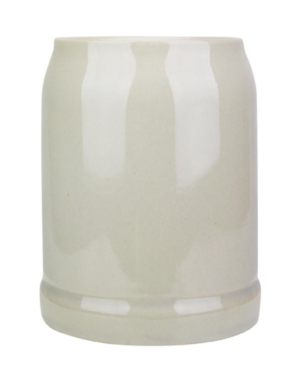 Front View, .5 Liter German Stoneware Beer Mug