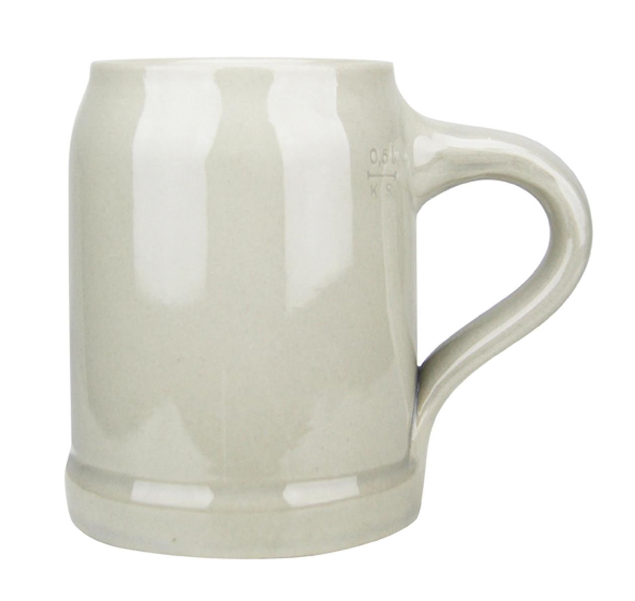 Authentic Bavarian Grey Beer Mug, .5L/17 oz.