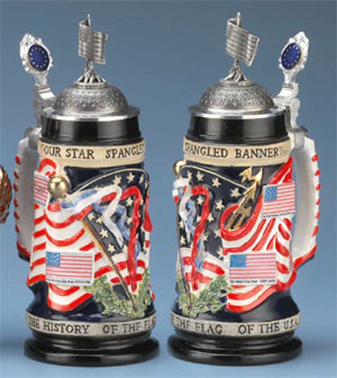U.S. Flag History Beer Stein