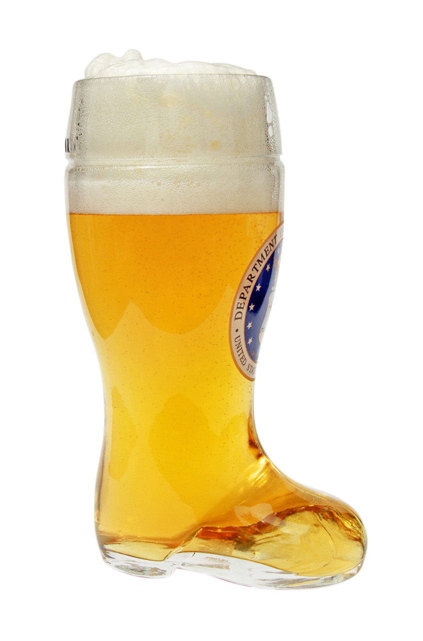 Side View of 1 Liter USAF Beer Boot