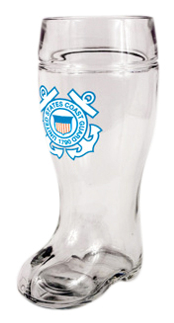 Custom Engraved USCG Beer Boot