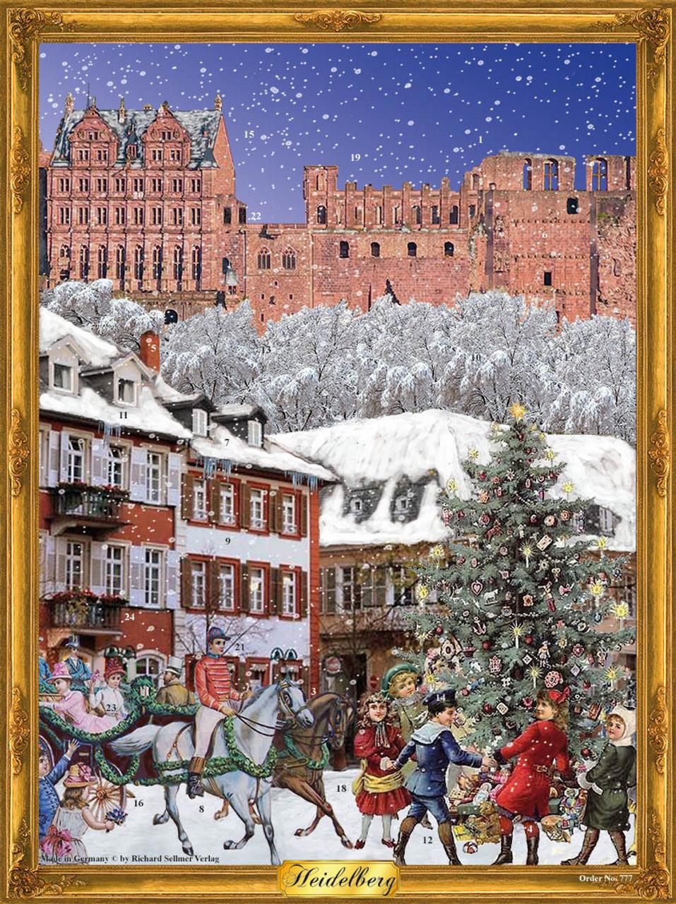 City of Heidelberg German Advent Calendar