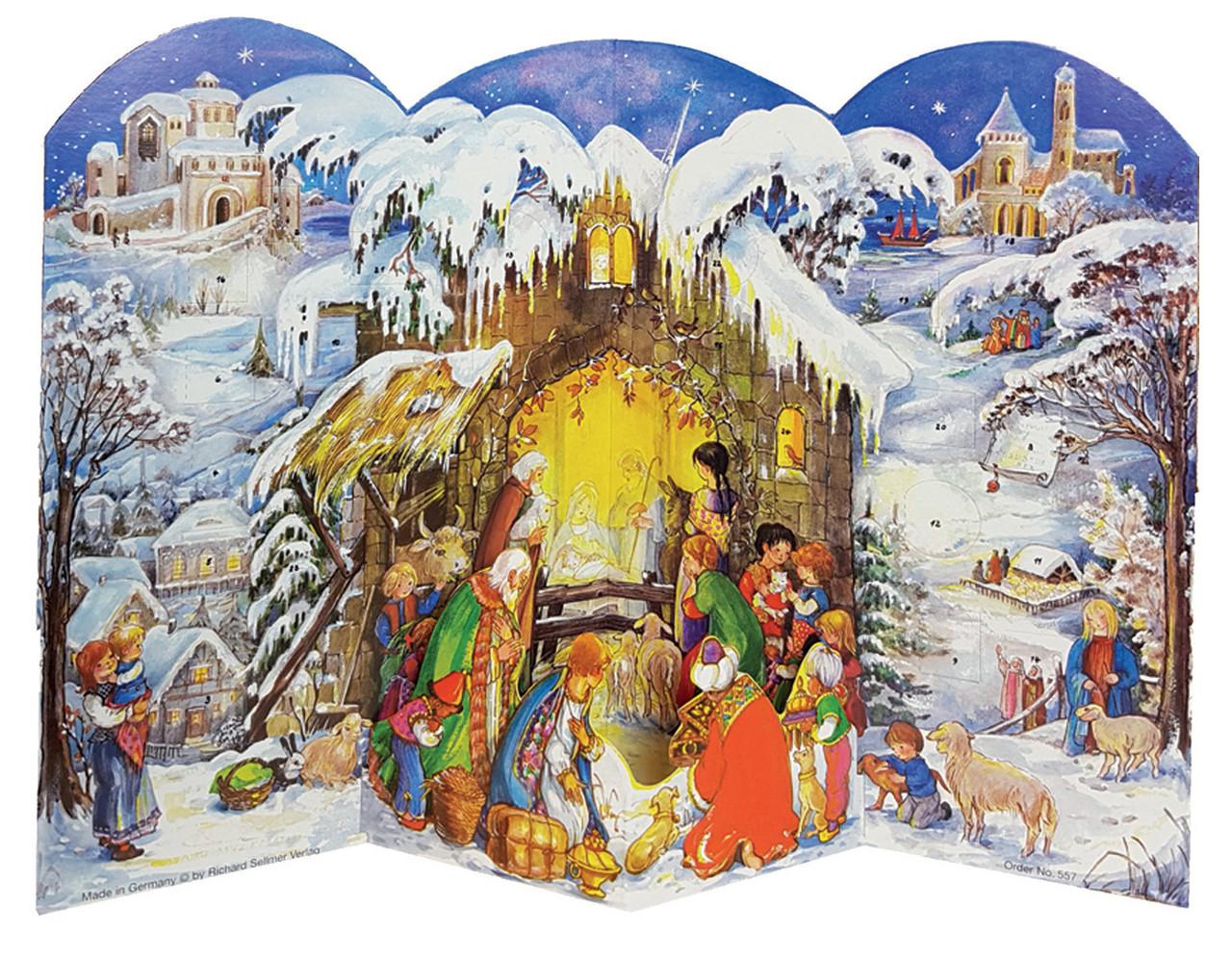 3D Nativity Scene German Advent Calendar