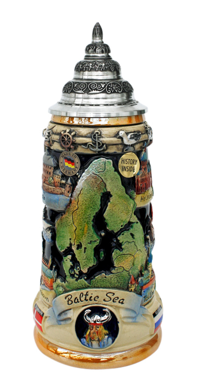 Baltic Sea Panorama Beer Stein