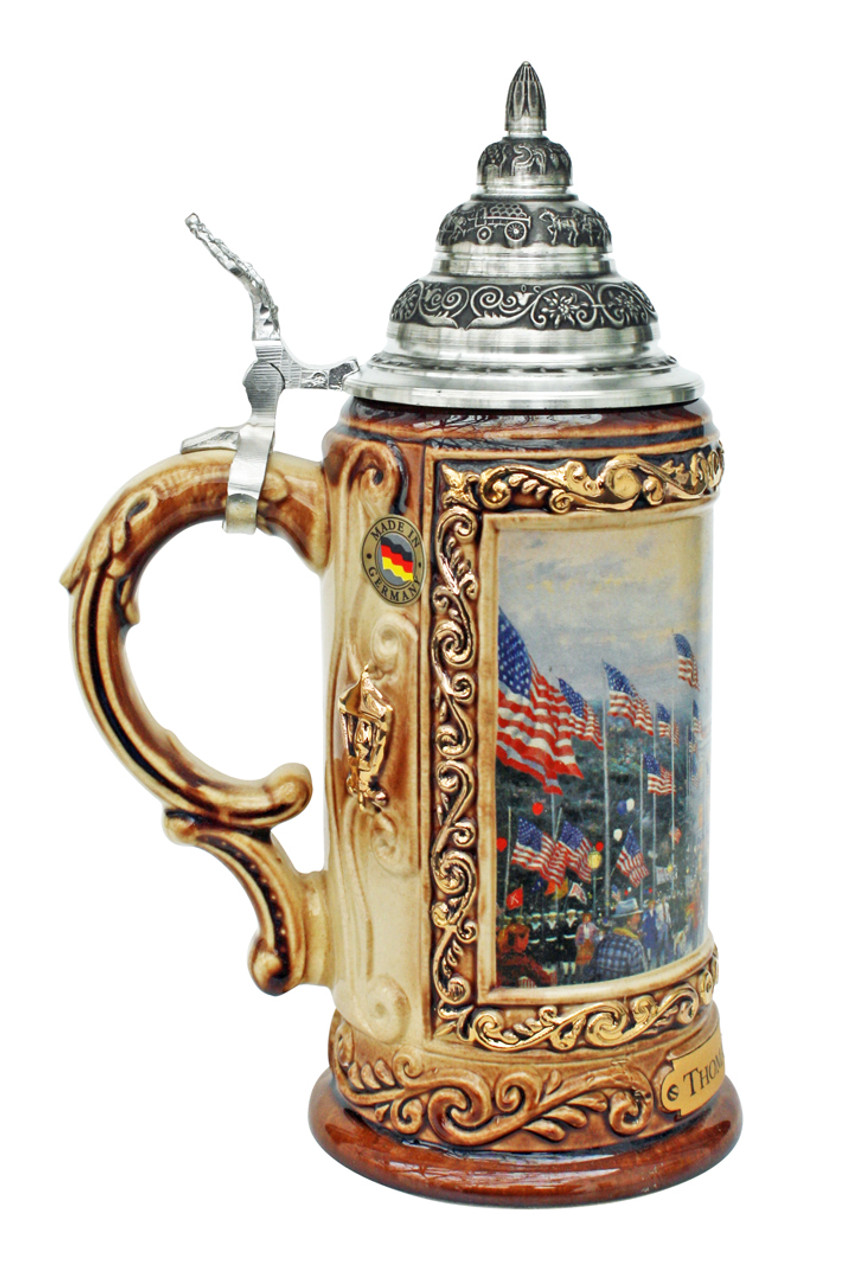 Thomas Kinkade Flags Over Capitol Beer Stein