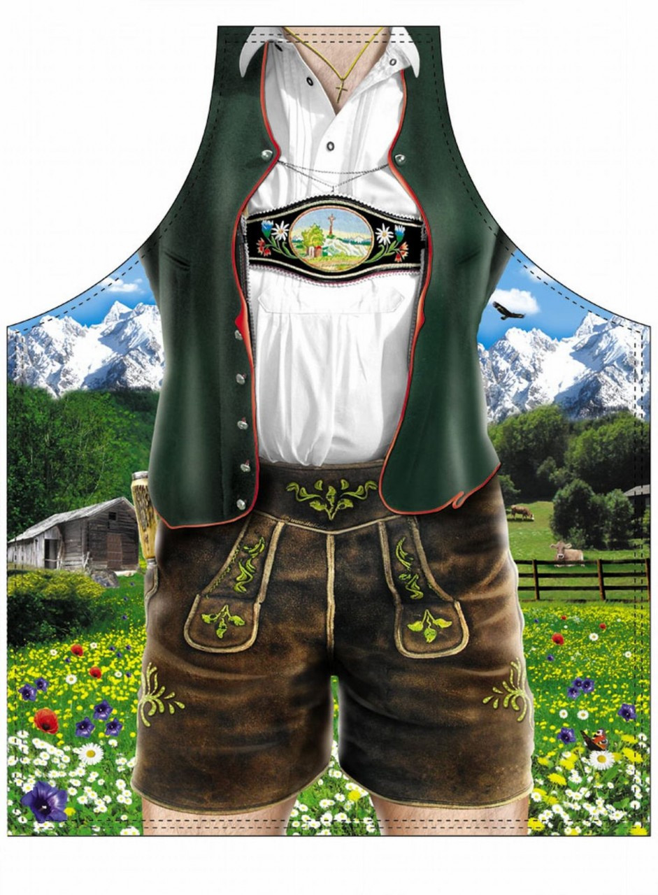 Bavarian Lederhose Male Beer Apron