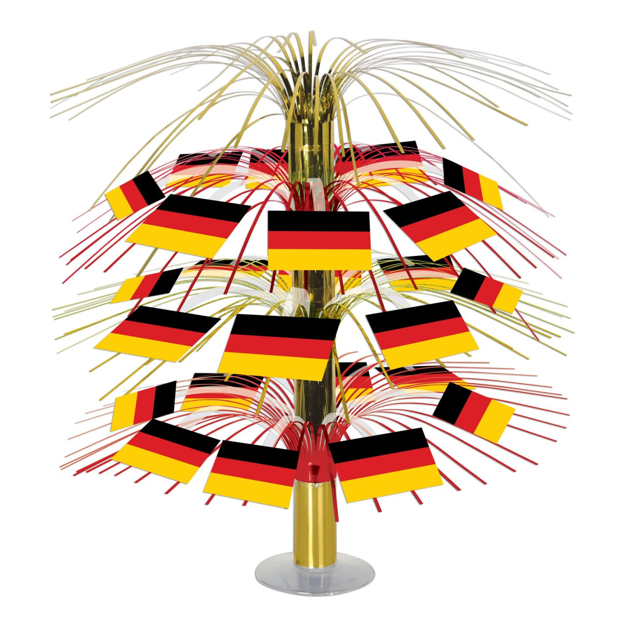 Giant Cascading German Flag Centerpiece 18in tall