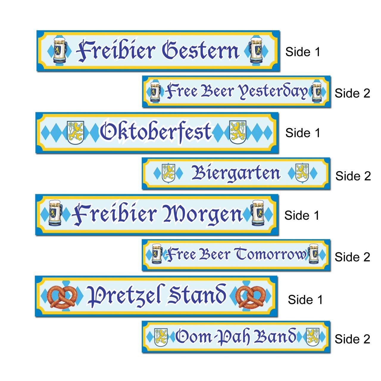 Oktoberfest Signs Paper Cutout 4Pack