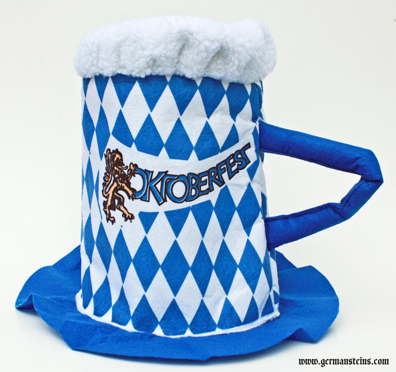 Bavarian Oktoberfest Party Beer Mug Hat