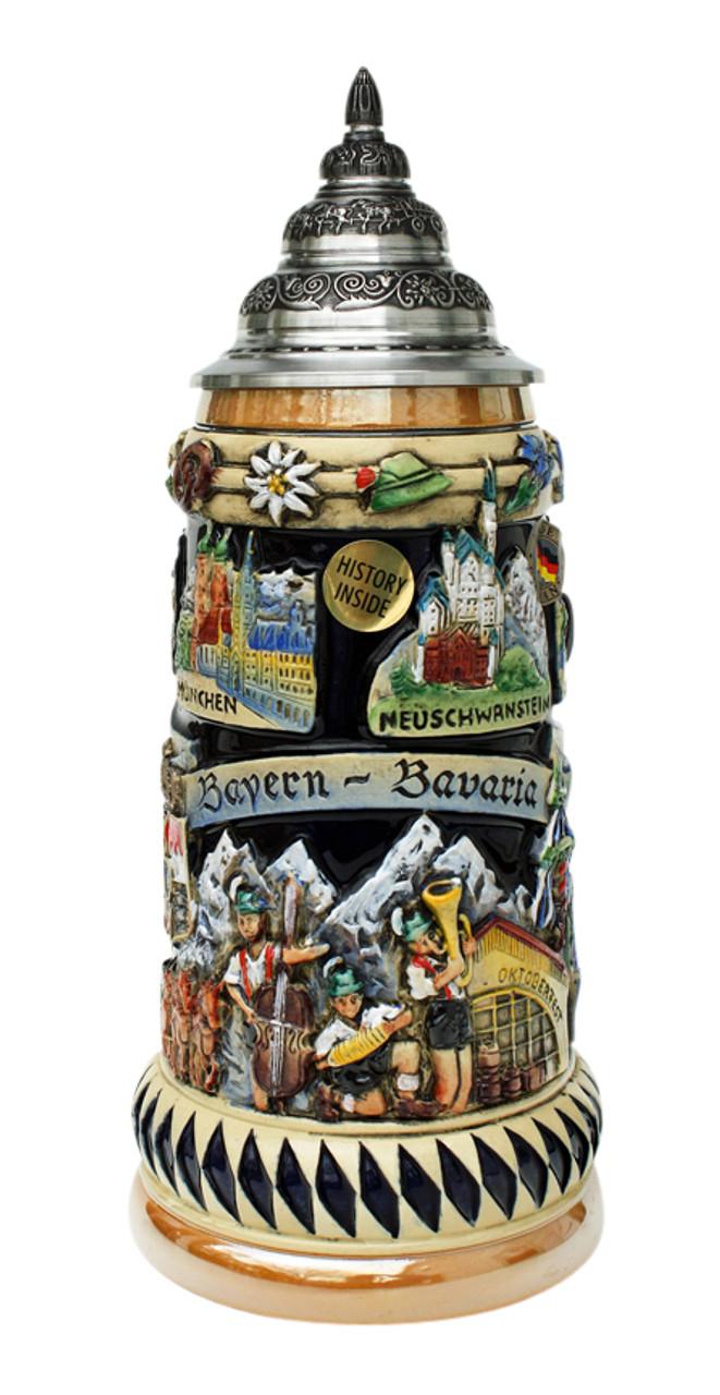 King Werk Oktoberfest Beer Stein with Hoisting Handle