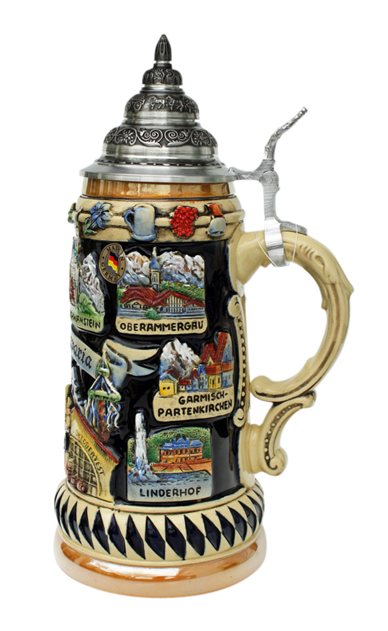.75 Liter Size Authentic German Beer Stein with Lid