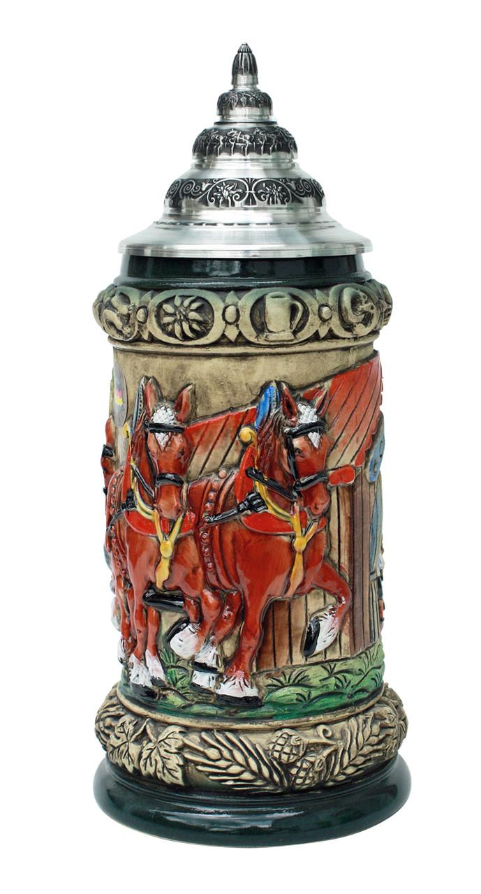 Traditional Oktoberfest Ceramic Beer Mug with Handle
