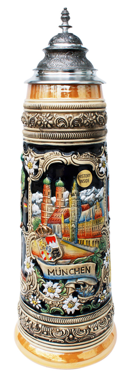 Handpainted Official Oktoberfest Party Stein Souvenir