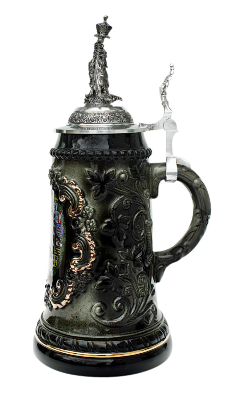 Deutschland Beer Stein with Eagle Lid