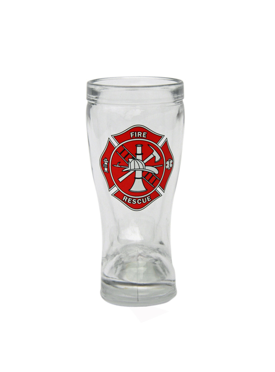 Firefighter Maltese Cross Beer Boot Shot Glass