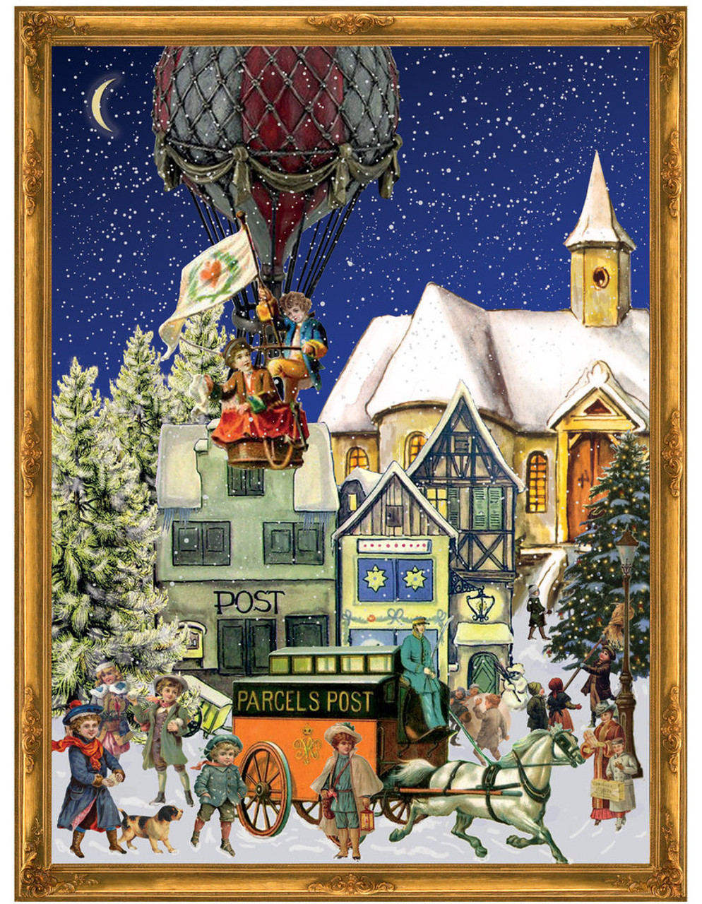 Christmas Hot Air Balloon German Advent Calendar