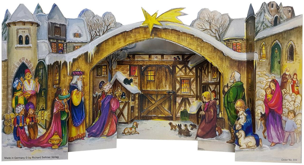 3D Christmas Nativity German Advent Calendar