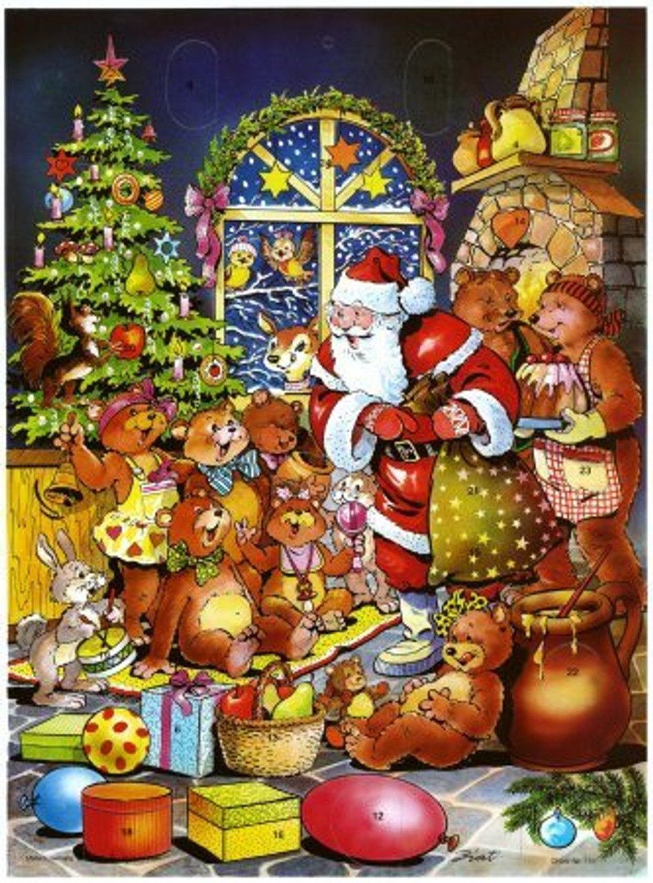 Bear Family Christmas German Advent Calendar
