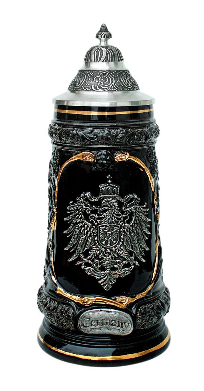 Germany Pewter Eagle Beer Stein
