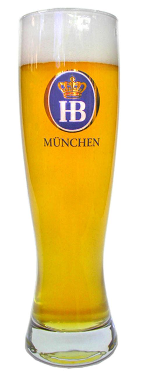 Hofbrauhaus HB Wheat Beer Glass 0.5 Liter