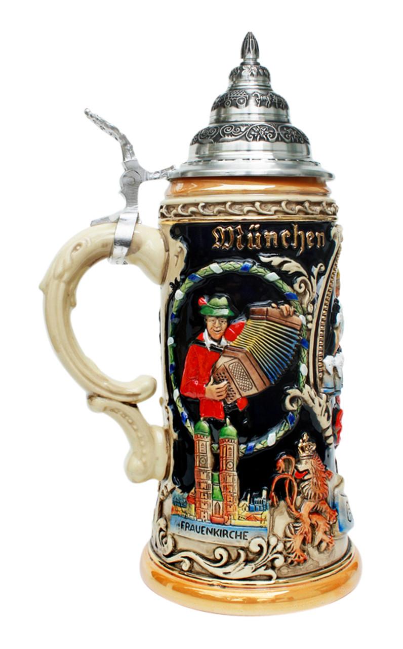Oktoberfest Dancing Beermaid Beer Stein