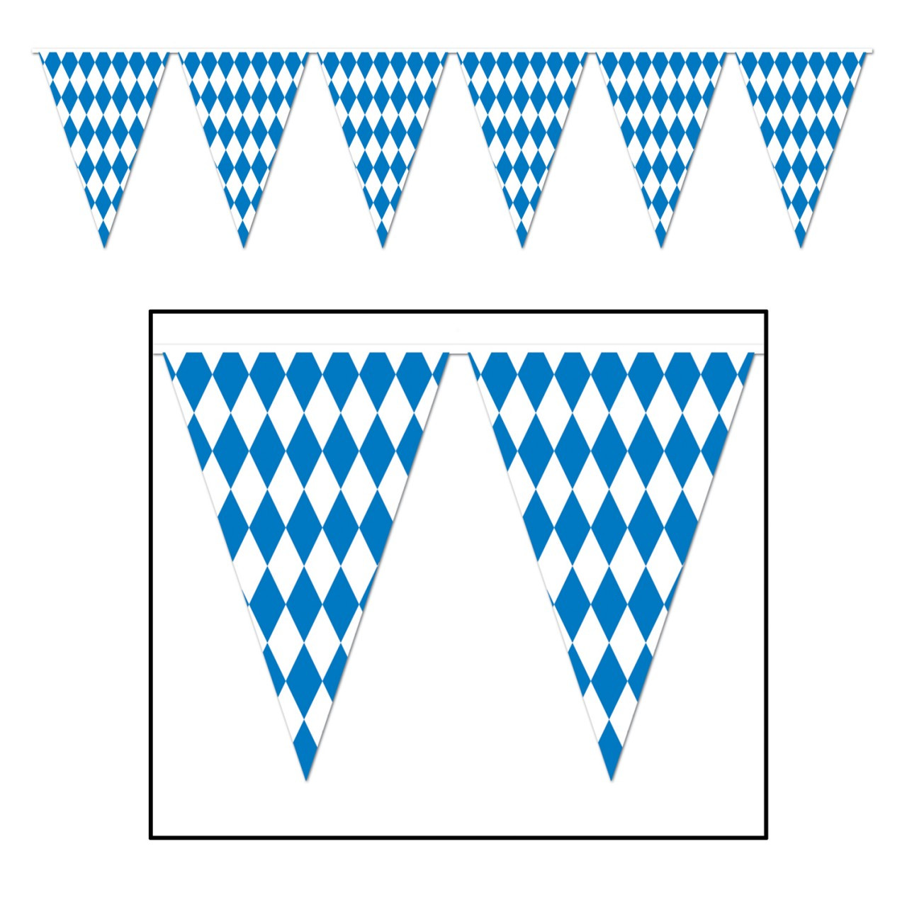 Oktoberfest Party Pennant Banner Large