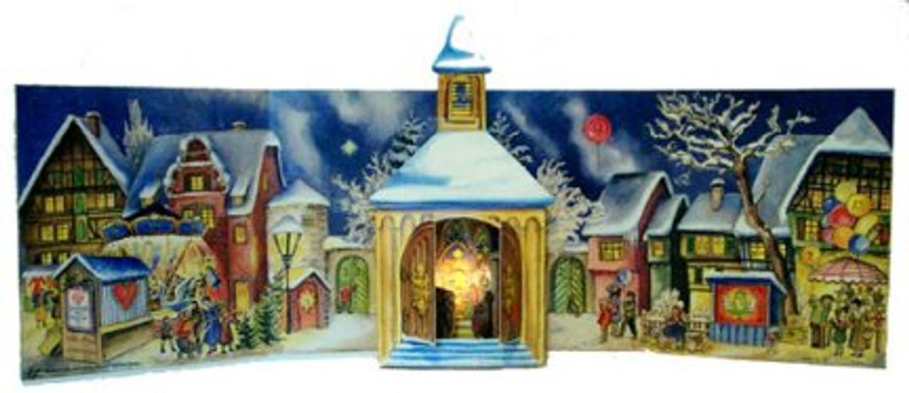 Little Chapel 1956 Reproduction 3D German Advent Calendar