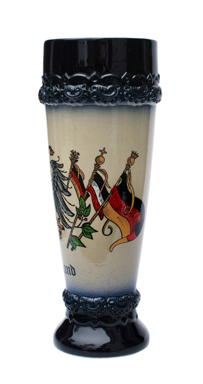"Wheat Beer Glass with ""Deutschland"" on the Front"