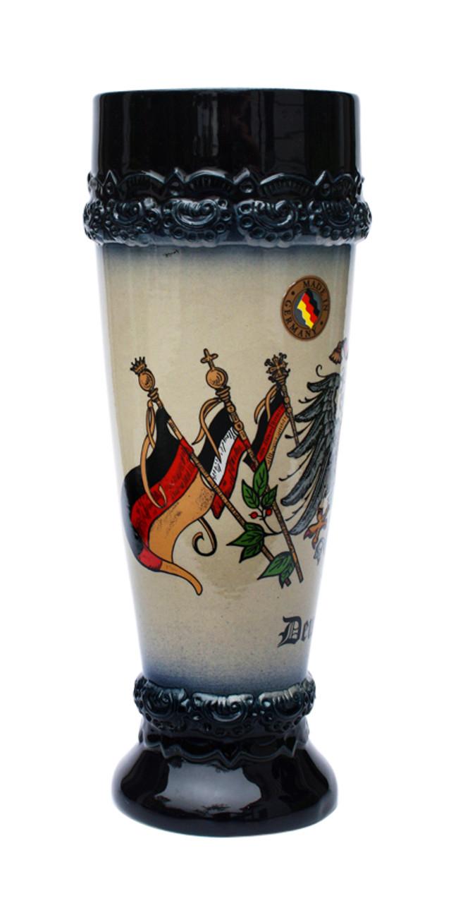 .5 Liter Deutschland Eagle Stoneware Wheat Beer Glass