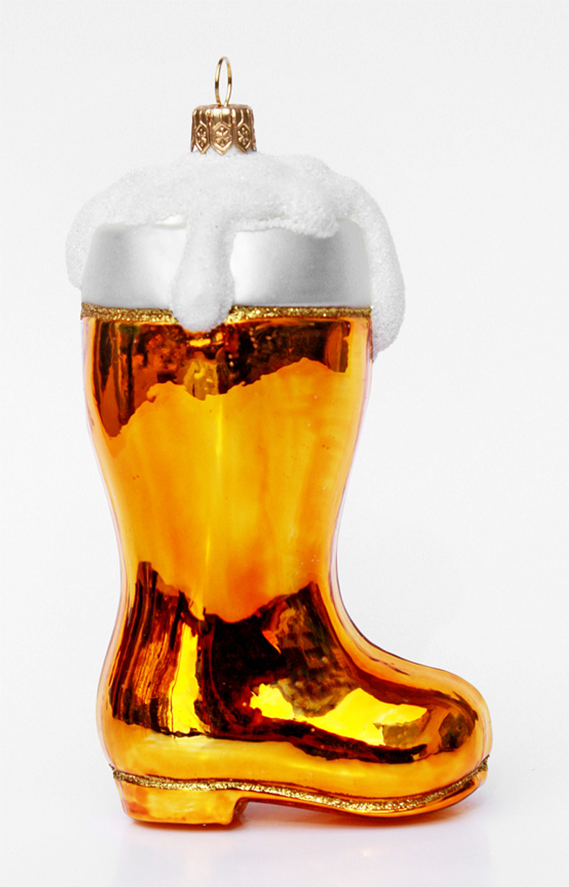 Made in Germany Miniature Beer Boot Christmas Ornament